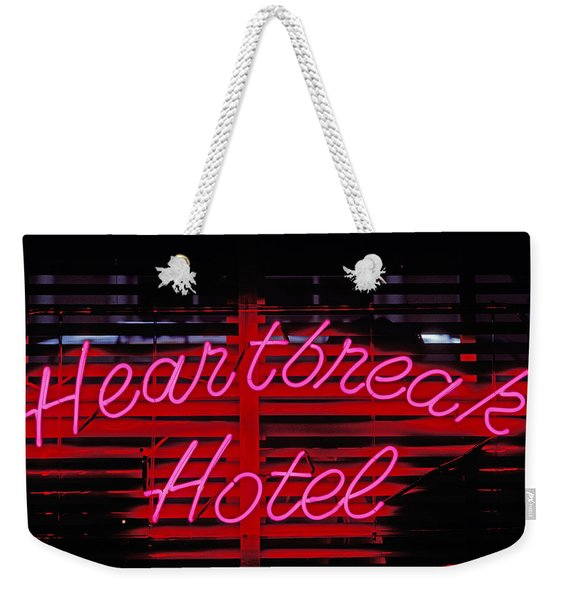 Heartbreak Hotel Neon Weekender Tote Bag