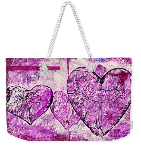 Hearts Abstract Weekender Tote Bag