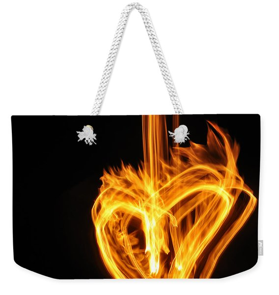 Hearts Aflame -falling In Love Weekender Tote Bag