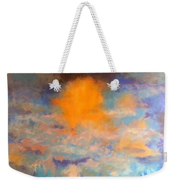 Heaven Blue Weekender Tote Bag