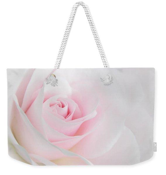 Heaven's Light Pink Rose Flower Weekender Tote Bag