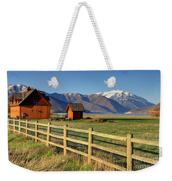 Heber Valley Ranch House - Wasatch Mountains Weekender Tote Bag