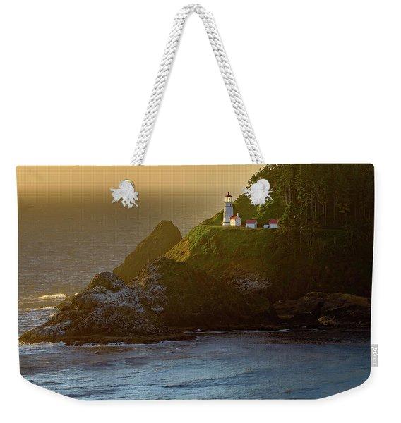 Heceta Head Lighthouse At Sunset Weekender Tote Bag