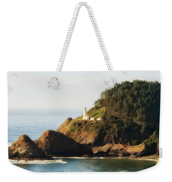 Weekender Tote Bag featuring the photograph Heceta Head Lighthouse by Michael Hope