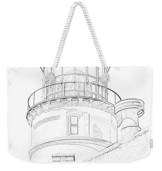 Hecitia Head Lighthouse Sketch Weekender Tote Bag