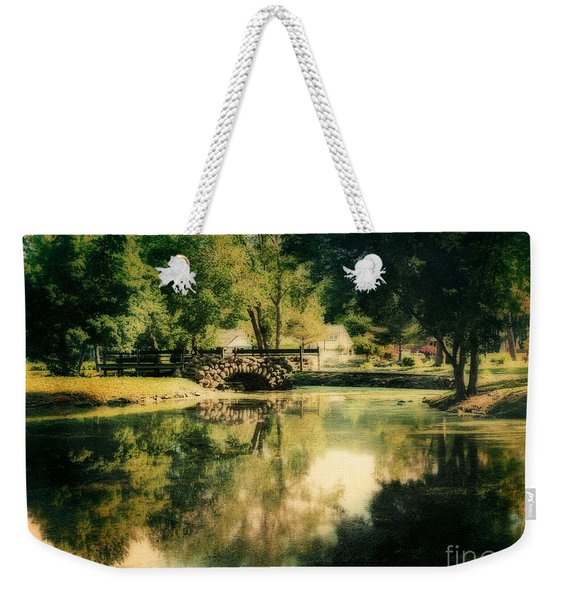 Heckscher Park Pond, Huntington Ny Weekender Tote Bag