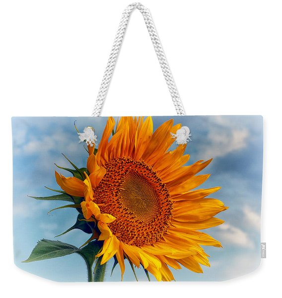 Helianthus Annuus Greeting The Sun Weekender Tote Bag
