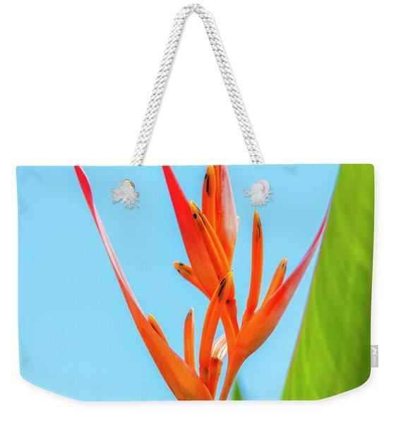Heliconia Flower Weekender Tote Bag