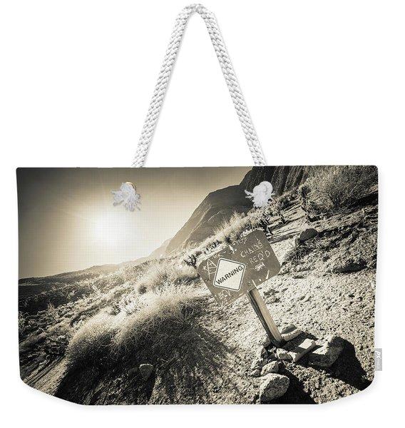 Hellhole Canyon Warning Weekender Tote Bag