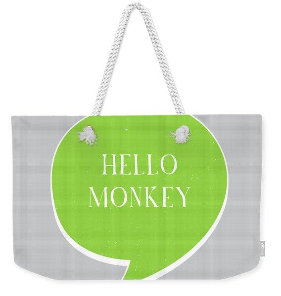 Hello Monkey Weekender Tote Bag