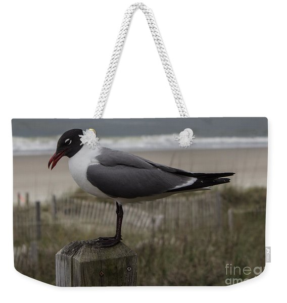 Hello Friend Seagull Weekender Tote Bag