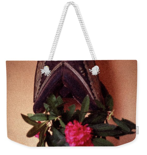 Helmet And Flower Weekender Tote Bag