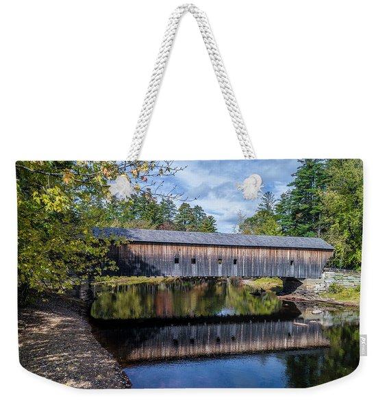 Hemlock Covered Bridge Weekender Tote Bag