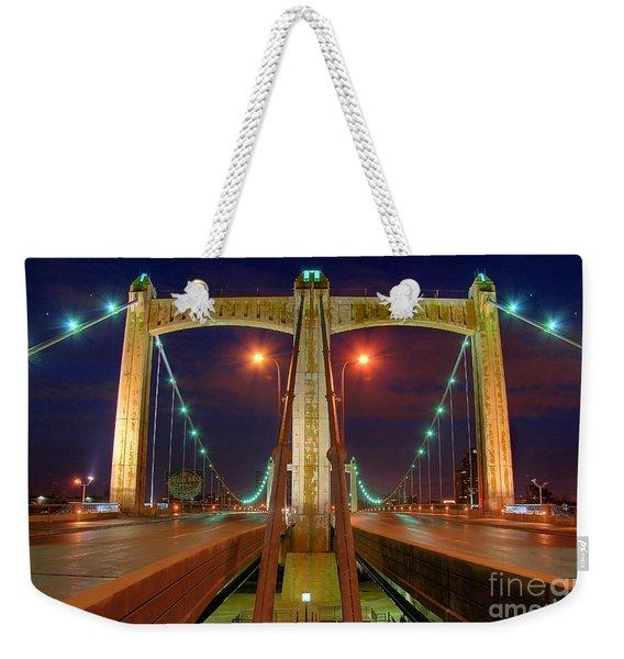 Hennepin Avenue Bridge Minneapolis Weekender Tote Bag