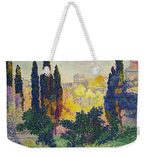 Henri Edmond Cross French Les Cypres A Cagnes Weekender Tote Bag