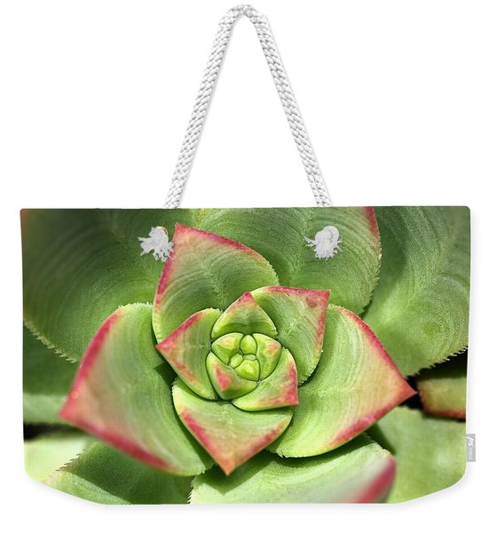 Hens And Chicks Succulent And Design Weekender Tote Bag