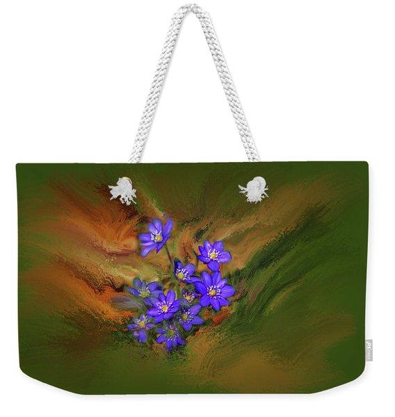 Hepatica Nobilis Painterly #h4 Weekender Tote Bag