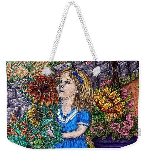 Her First Garden Weekender Tote Bag