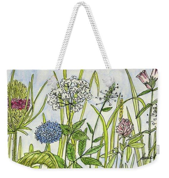 Herbs And Flowers Weekender Tote Bag