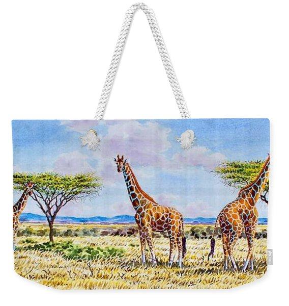 Herd Of Giraffe Weekender Tote Bag