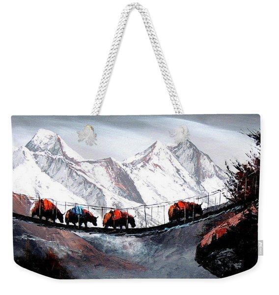 Herd Of Mountain Yaks Himalaya Weekender Tote Bag