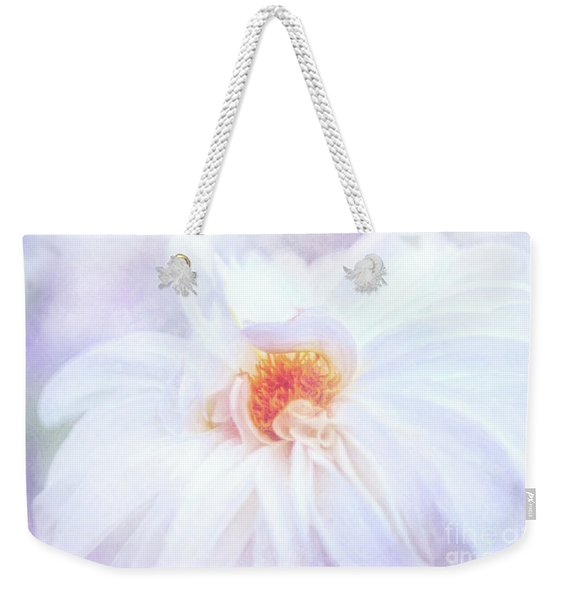 Here Comes The Bride - A Beautiful White Dahlia Weekender Tote Bag