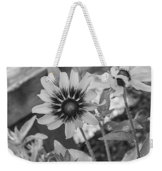 Here I Am In Black And White Weekender Tote Bag