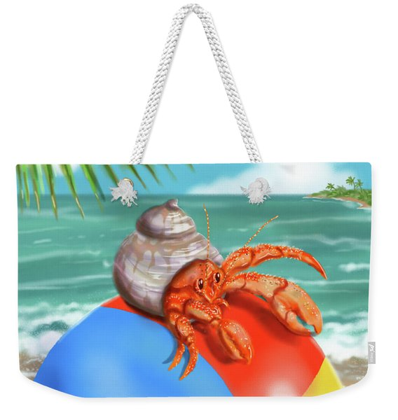 Hermit Crab On A Beachball Weekender Tote Bag