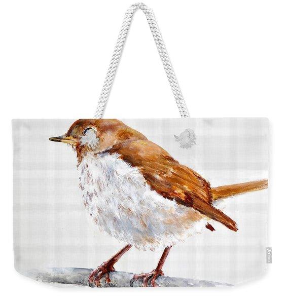 Hermit Thrush - Best 2017 - Acrylic Weekender Tote Bag