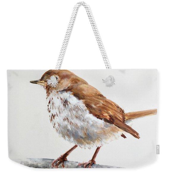 Hermit Thrush Weekender Tote Bag