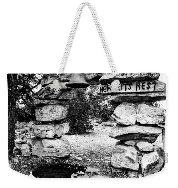 Hermit's Rest, Black And White Weekender Tote Bag