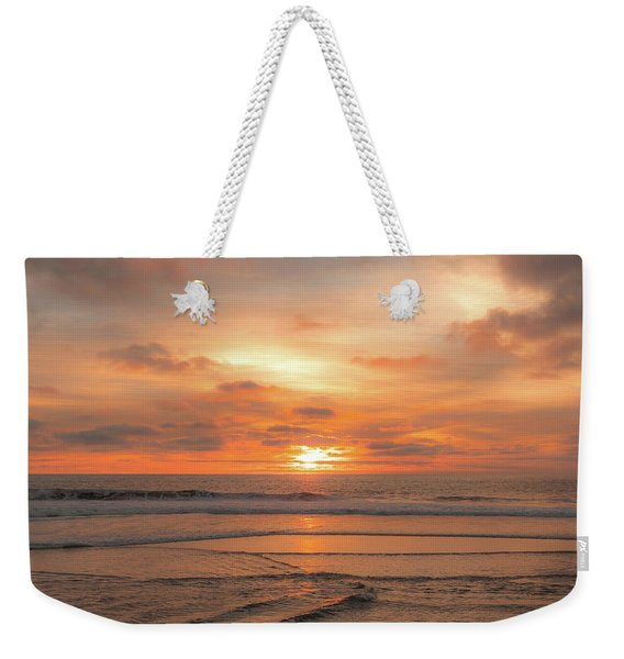 Weekender Tote Bag featuring the photograph Hermosa Sunset Classic3 by Michael Hope