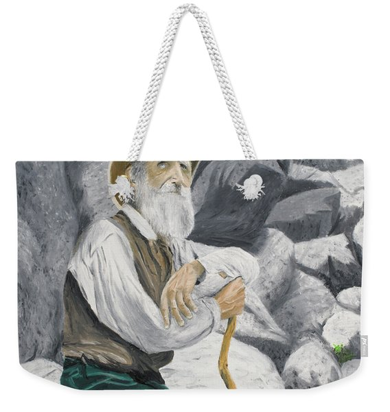 Weekender Tote Bag featuring the painting Hero Of The Land by Kevin Daly