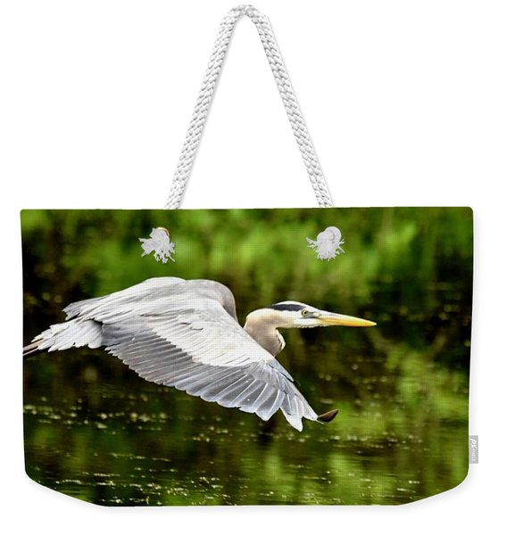 Heron In Flight Weekender Tote Bag