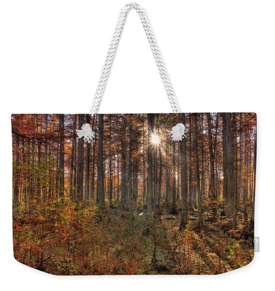 Heron Pond Cypress Trees Weekender Tote Bag