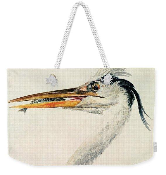 Heron With A Fish Weekender Tote Bag