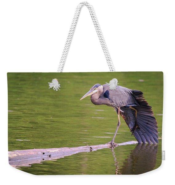 Heron Yoga Weekender Tote Bag