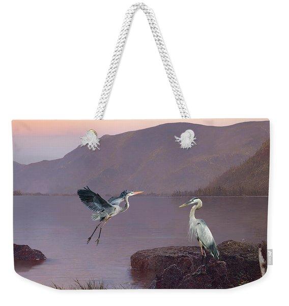 Herons At Lake George Weekender Tote Bag