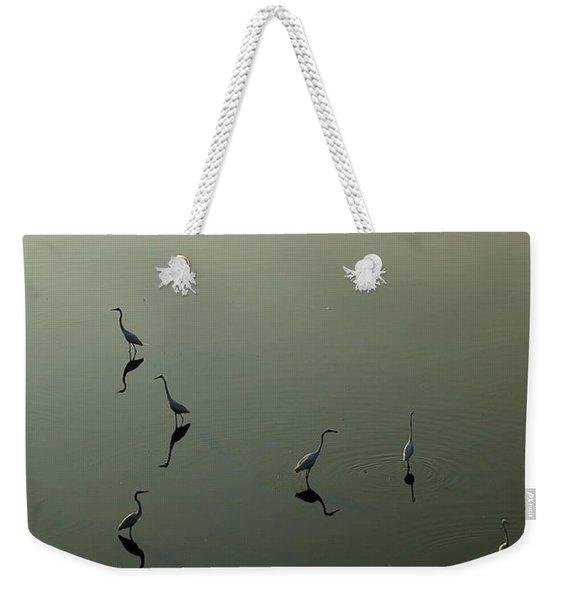 Herons On Lake 367 Weekender Tote Bag