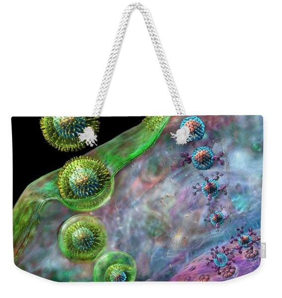 Herpes Virus Replication Weekender Tote Bag