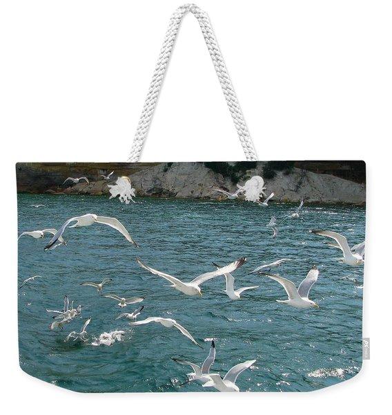 Herring Gulls At Pictured Rocks Weekender Tote Bag