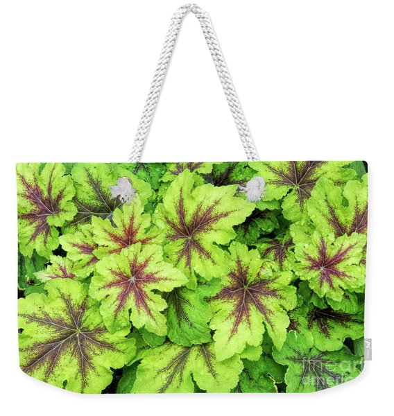 Heucherella Art Nouveau Leaves Weekender Tote Bag