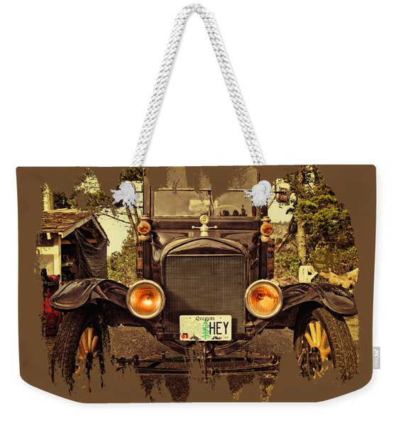 Hey A Model T Ford Truck Weekender Tote Bag