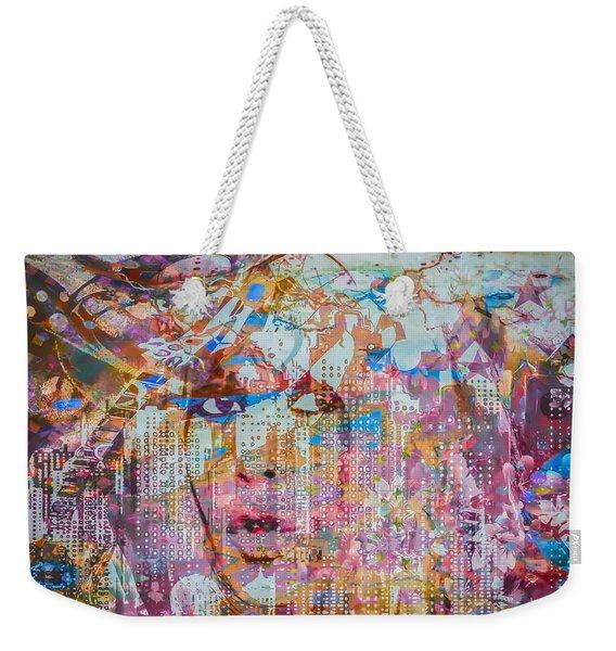 Weekender Tote Bag featuring the digital art Hey Good Lookin by Eleni Mac Synodinos