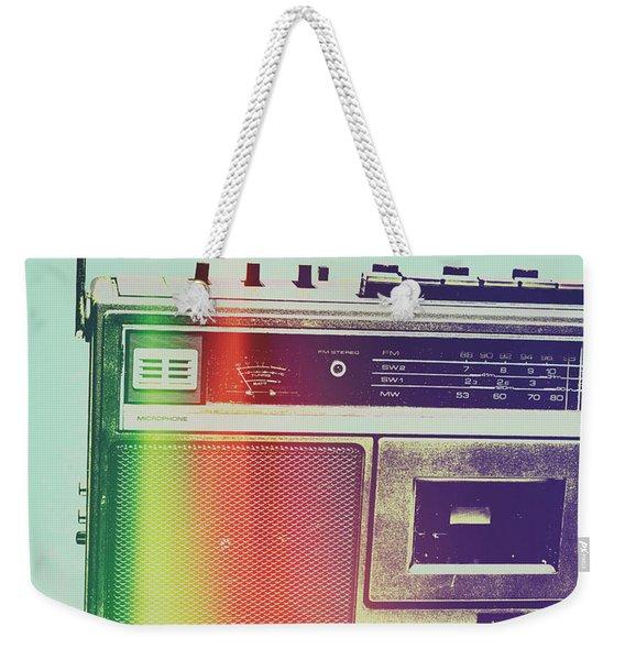 Hi-fi Pop Weekender Tote Bag