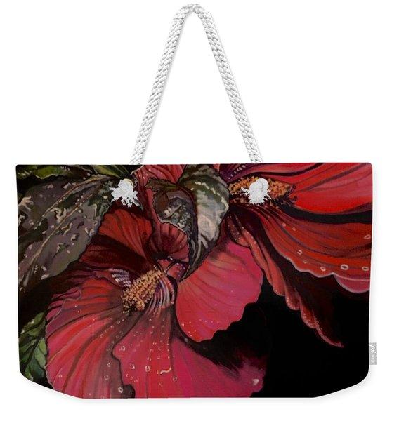 Hibiscus After The Rain Weekender Tote Bag