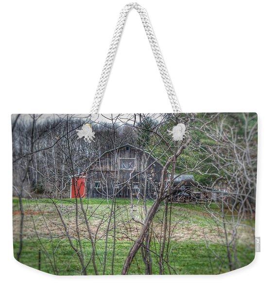 0019 - Hidden Capac Grey Weekender Tote Bag