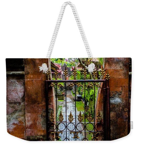 Bali Gate Weekender Tote Bag