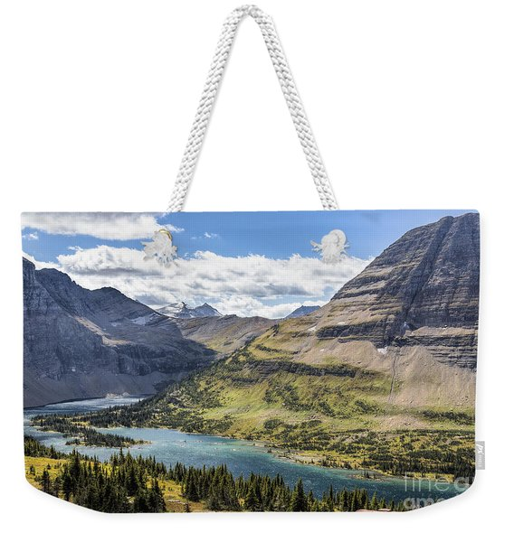 Weekender Tote Bag featuring the photograph Hidden Lake Overlook by Jemmy Archer