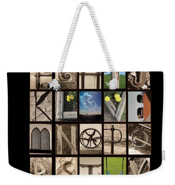 Hidden Message Weekender Tote Bag